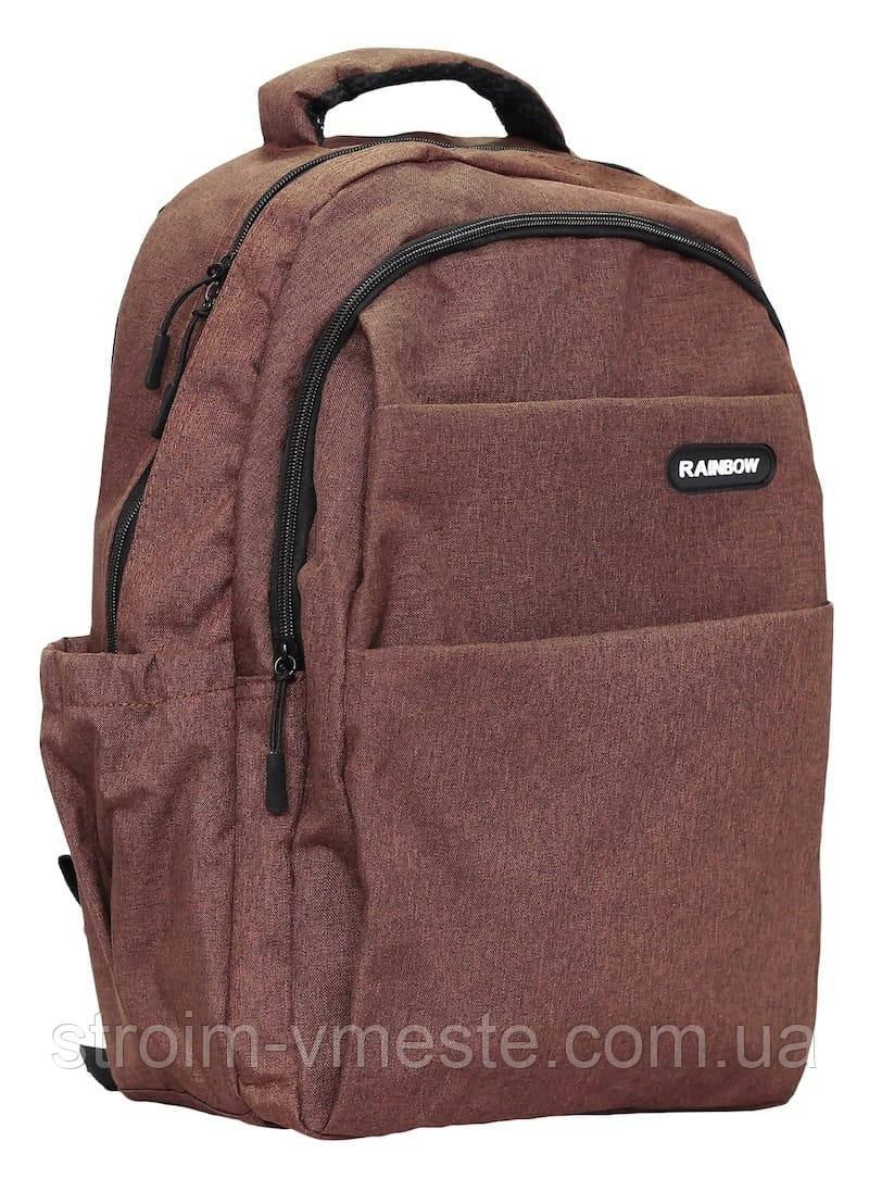 Ранец-рюкзак 2 отд 43*29*19см 300D PL RAINBOW Teens 8-543