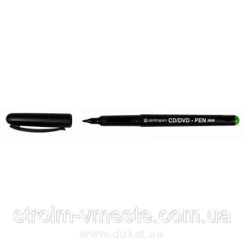 Маркер для CD/DVD/BD 1мм спирт осн зеленый 4606 Centropen
