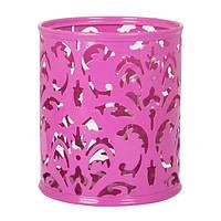 Подставка для ручек BUROMAX Barocco BM.6204-10 металлическая розовая