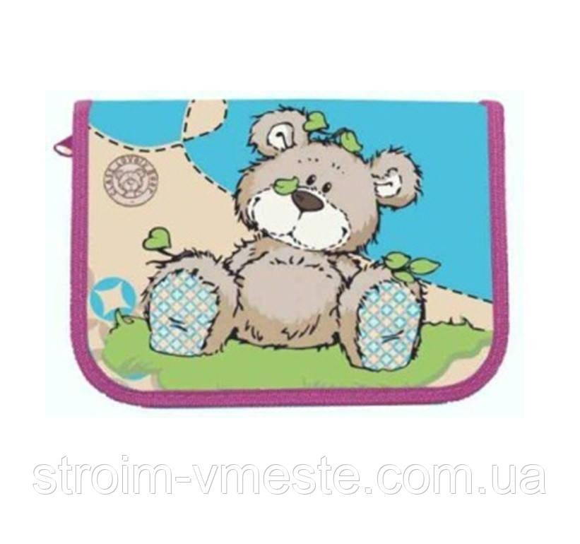 Пенал 1-яр c 1м отворотом с наполнением Lovely Bear CLASS 97235
