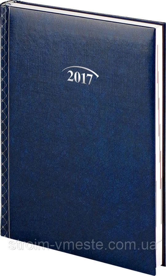 Щоденник 2017 Стандарт Графо синій 14,5 х 20,6 см (А5)
