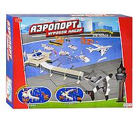 Аэропорт ZHORYA  ZYB-B 0802-2 самолет (жел), транспорт, знаки, вышка, 40 элемент, в кор-ке, 50-40-7,5см