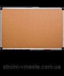 Доска пробковая для записей алюминиевая рамка 45 х 60 мм