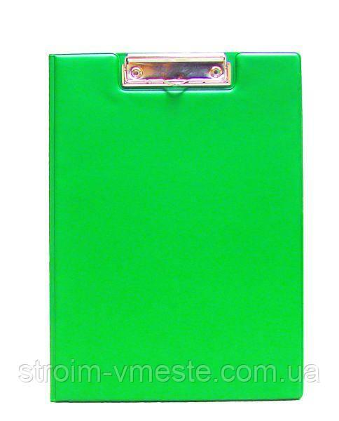 Папка планшет А4 с зажимом SCHOLZ 5-545 PVC зелёная