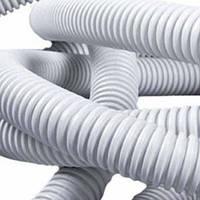Труба гофра диаметр 40 белая канализационная (20м)