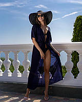 Туника пляжная в пол синяя 001 /07, фото 1