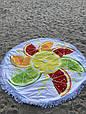 """Пляжный коврик """"Алельсинчик"""" 150 см (плотный), фото 3"""