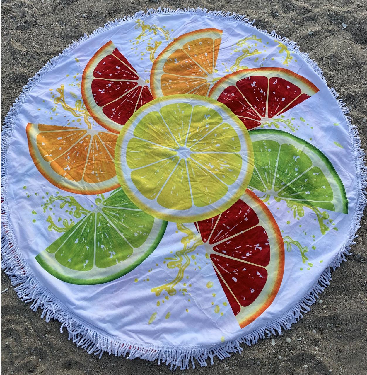 """Пляжный коврик """"Алельсинчик"""" 150 см (плотный)"""