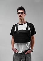 Нагрудная сумка Chest Rig/броник «Stockton» Bad Monkey, цвет черный
