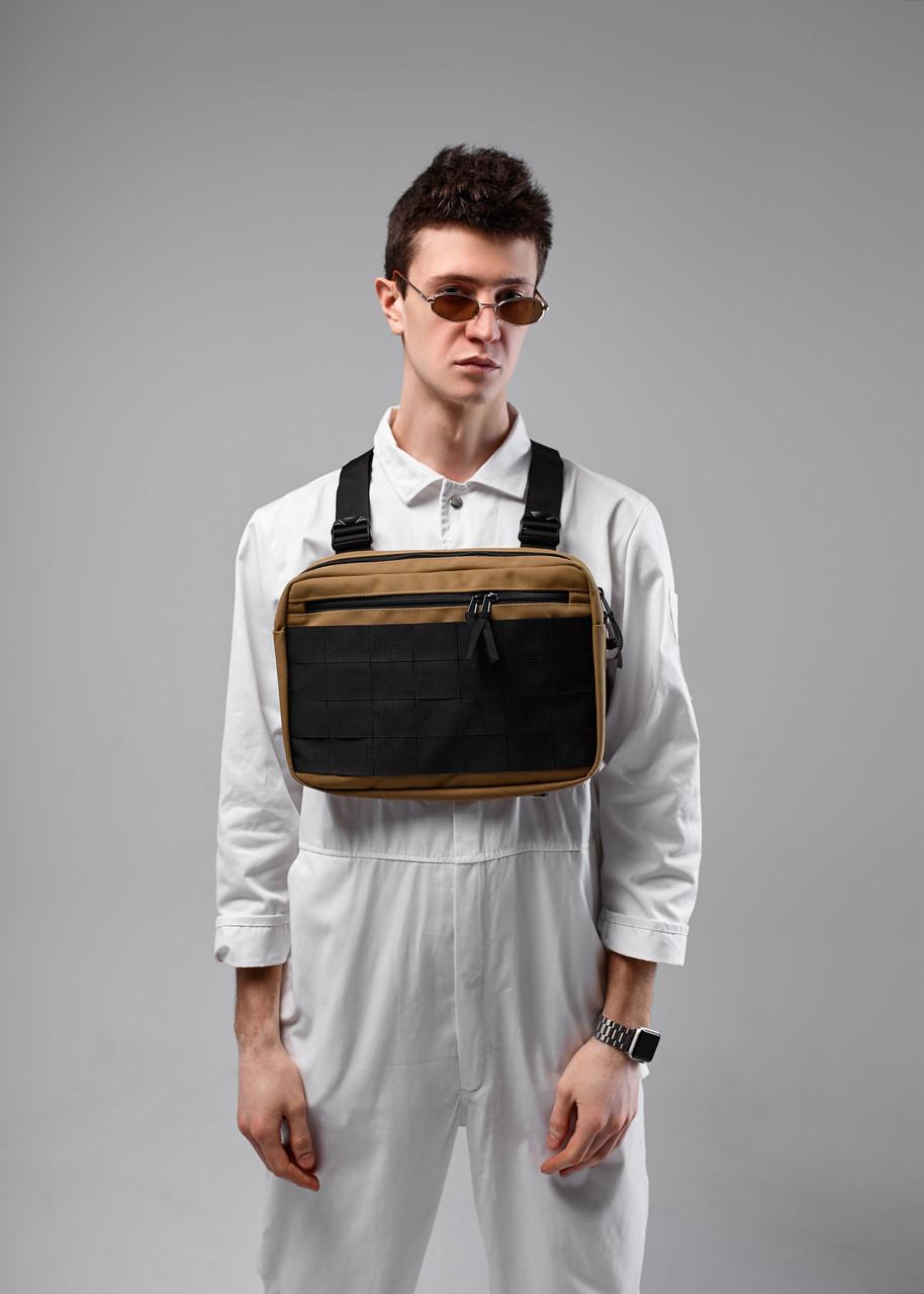 Нагрудная сумка Chest Rig/броник «Stockton» Bad Monkey, цвет бежевый