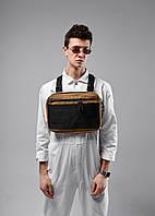 Нагрудная сумка Chest Rig/броник «Stockton» Bad Monkey, цвет бежевый, фото 1