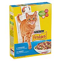 Сухой корм для взрослых кошек Friskies Adult Salmon and Vegetabls 300 г (лосось и овощи)