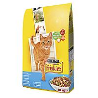 Сухой корм для взрослых кошек Friskies Adult Salmon and Vegetabls 10 кг (лосось и овощи)