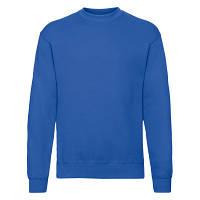 Хлопковый мужской зимний пуловер на флисе ярко-синий - S, M, L, XL, 2XL, фото 1