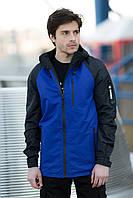"""Куртка-парка мужская демисезонная не промокаемая """"Traveler"""" электрик с черным - XXL"""