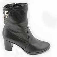 Ботинки женские на каблуках КОЖА, Весна-Осень