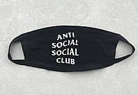 Маска на лицо Anti Social Social Club черная, фото 1