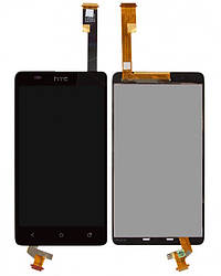 Дисплей для HTC Desire 400 Dual Sim, One SU T528w, модуль в сборе (экран и сенсор), черный, оригинал