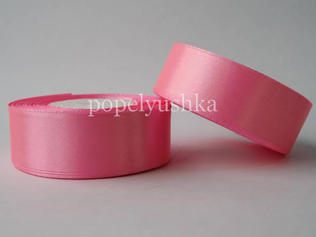 Стрічка атласна 2,5см яскраво-рожева