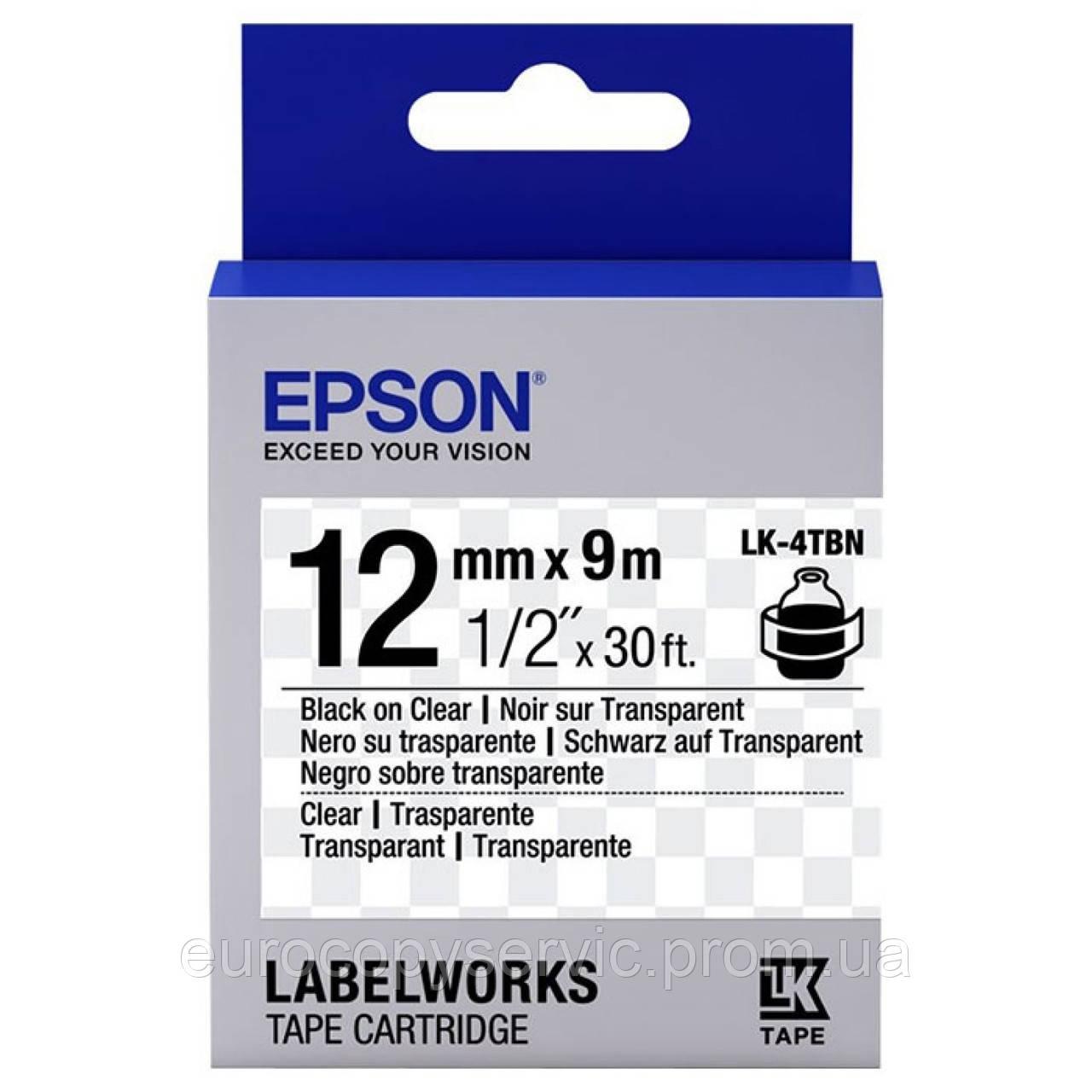 Картридж Epson Black/Clear 12mm x 9m (C53S654012) Original