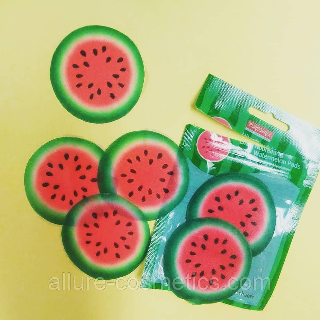 Увлажняющие пады для лица с экстрактом арбуза PUREDERM Ultra Nourishing Watermelon Pads