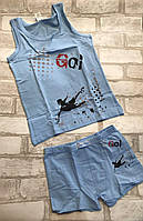 """Комплект нижнего белья на мальчика 2-12лет """"Goi"""", цвета как на фото, фото 1"""