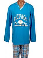 Пижама мужская хлопковая трикотажная домашняя кофта с брюками для дома