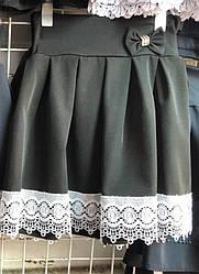 Юбка школьная  черная 1-4 класс 116,122,128. Украина