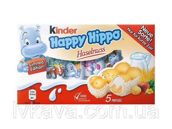 Вафельні батончики Kinder Happy Hippo , 5 x 20,7 гр