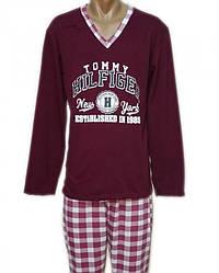 Пижама мужская хлопковая трикотажная домашняя кофта со штанами для дома
