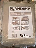 Тент Тарпаулин Tenexim Plandeka Mocna 120 г/м2, полипропиленовый, 5х6м