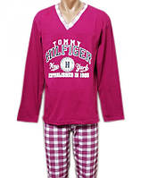 Пижама мужская домашняя хлопковая трикотажнаякофта со штанами для дома