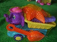 Песочный набор машина слон 20см. 22-11-9