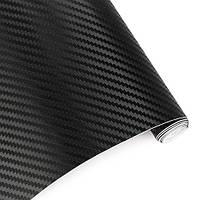 Карбоновая плёнка черная 3D 127 х 30 см (z04507)