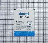 Аккумулятор Nomi i504 NB-504 / Fly FS504 для телефона Б/У!!! ORIGINAL