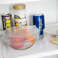 Набор Крышек Многоразовых силиконовых многоразовых для хранения продуктов