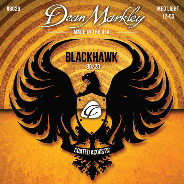 Струны для акустической гитары DEAN MARKLEY 8020 BLACKHAWK ACOUSTIC 80/20 BRONZE ML (12-53)