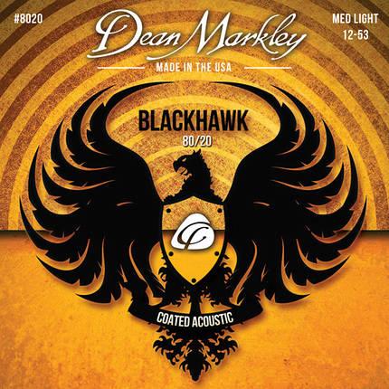 Струны для акустической гитары DEAN MARKLEY 8020 BLACKHAWK ACOUSTIC 80/20 BRONZE ML (12-53), фото 2