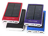 Повер банк Power Bank 30000 mAh на солнечных батареях 2 USB, фото 7