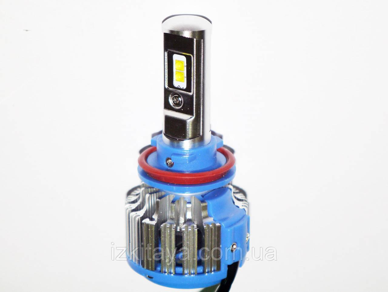 Ксенон світлодіодний для автомобільних фар з цоколем H8/Н11 Xenon Led 6000к 35W діодні лампи