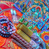 """Свечи с тибетскими травами """"Отношения""""/набор 5 позиций"""