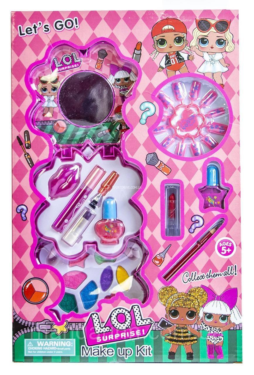Детский набор косметики ЛОЛ для девочек с лаками и тенями. D - 76