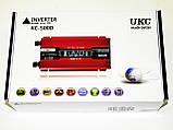 Инвертор преобразователь напряжения Power Inverter UKC KC-500D 500W с LCD дисплеем, фото 7
