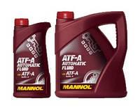 Трансмиссионное масло  ATF-A AUTOMATIC FLUID MANNOL  1л