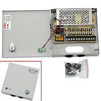 Блок питания в металлическом ящике для камер CCTV 6-кан 12В 5А 60Вт (z04528)