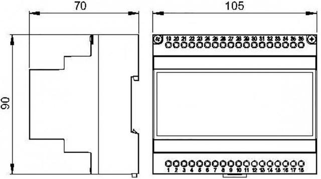 Габаритні розміри модулятора AstralPool LumiPlus 27818