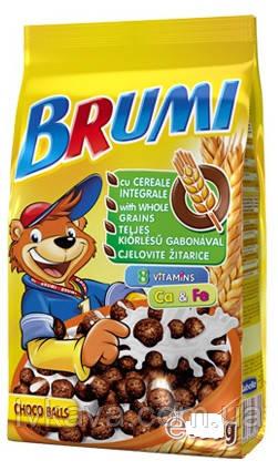 Сухой завтрак шоколадные шарики Brumi, 250 гр