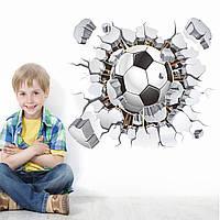 3D интерьерные виниловые наклейки на стены Мяч Футбольный 40-50 см в детскую . Декор, Обои