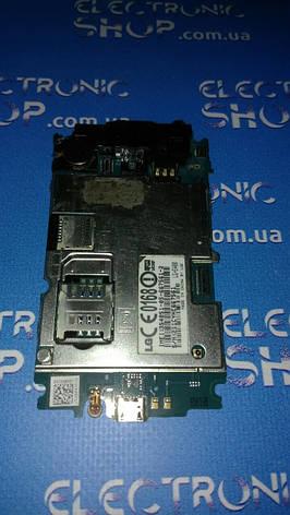 Плата не рабочая LG E400 оригинал б.у, фото 2