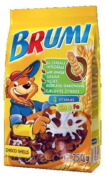 Сухой завтрак шоколадные ракушки  Brumi, 250 гр